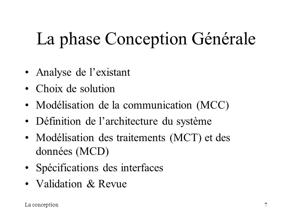 La conception la conception ppt t l charger - Definition de conception ...