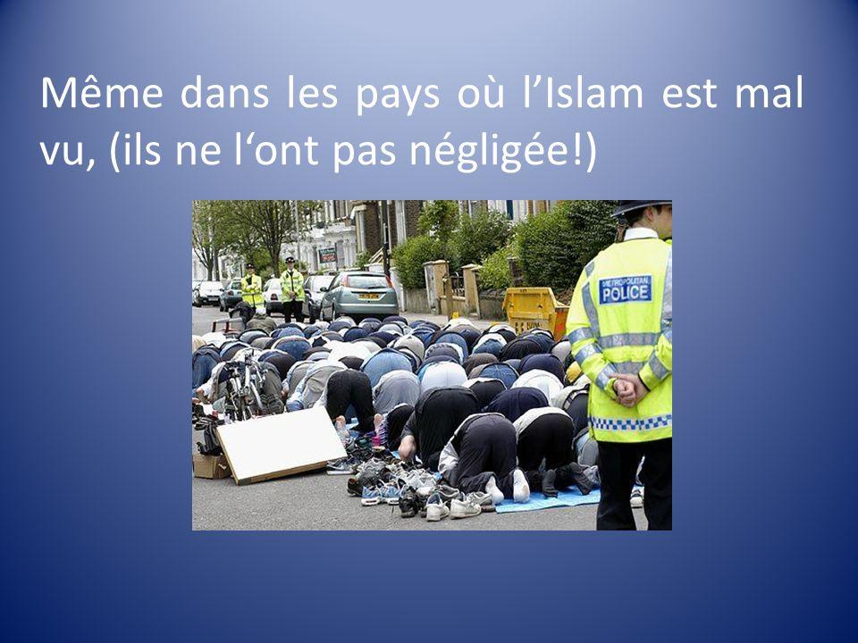 Même dans les pays où l'Islam est mal vu, (ils ne l'ont pas négligée!)