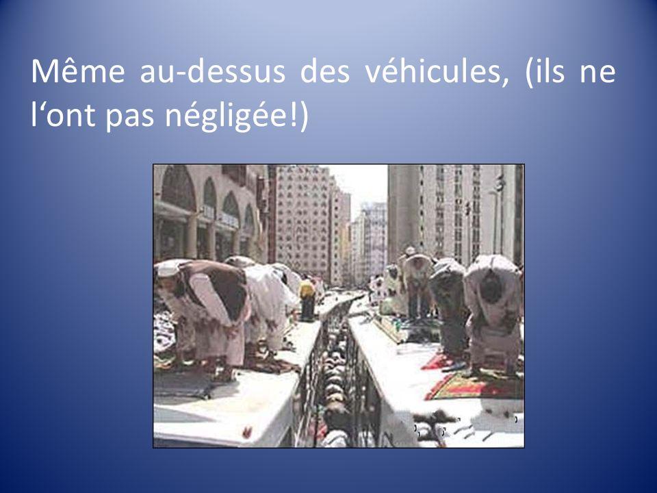 Même au-dessus des véhicules, (ils ne l'ont pas négligée!)