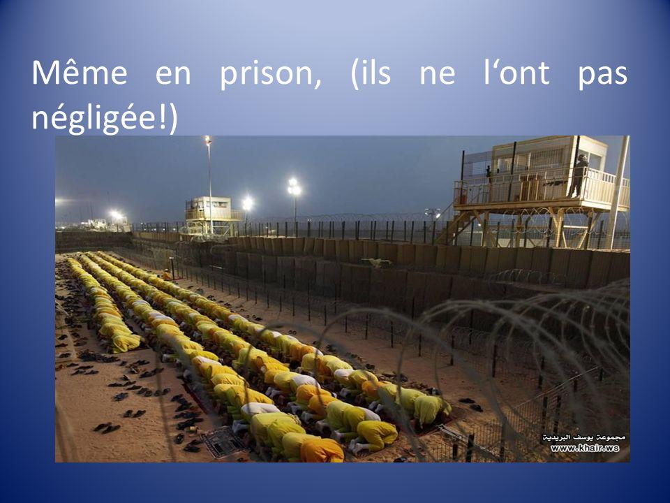 Même en prison, (ils ne l'ont pas négligée!)