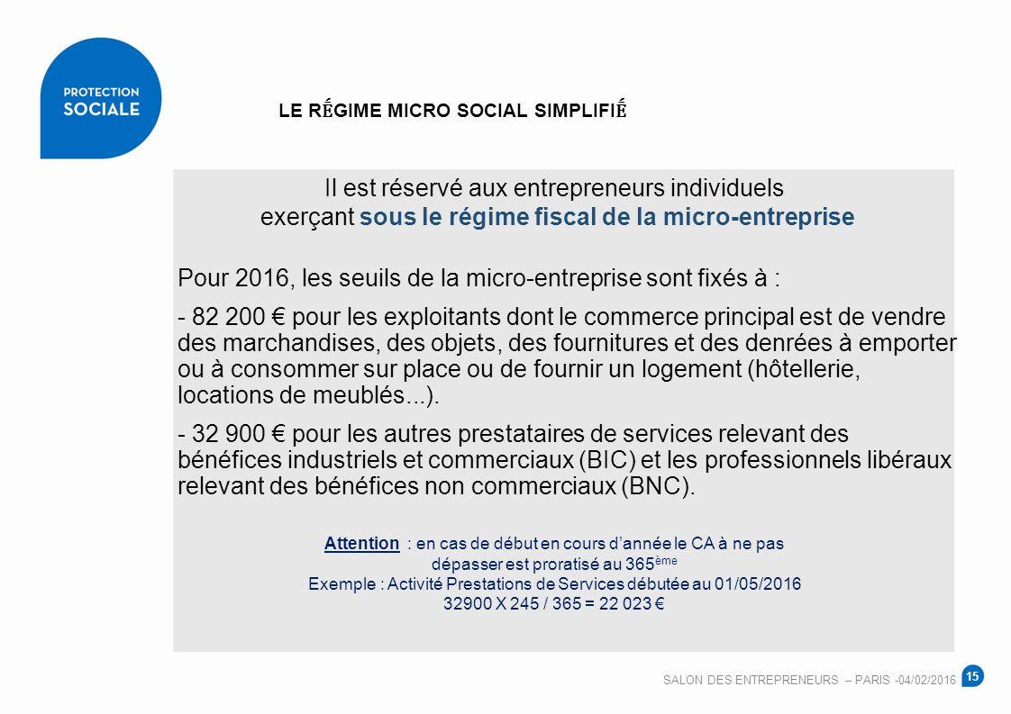 Salon des entrepreneurs paris 04 f vrier ppt video - Regime fiscal location meublee non professionnel ...