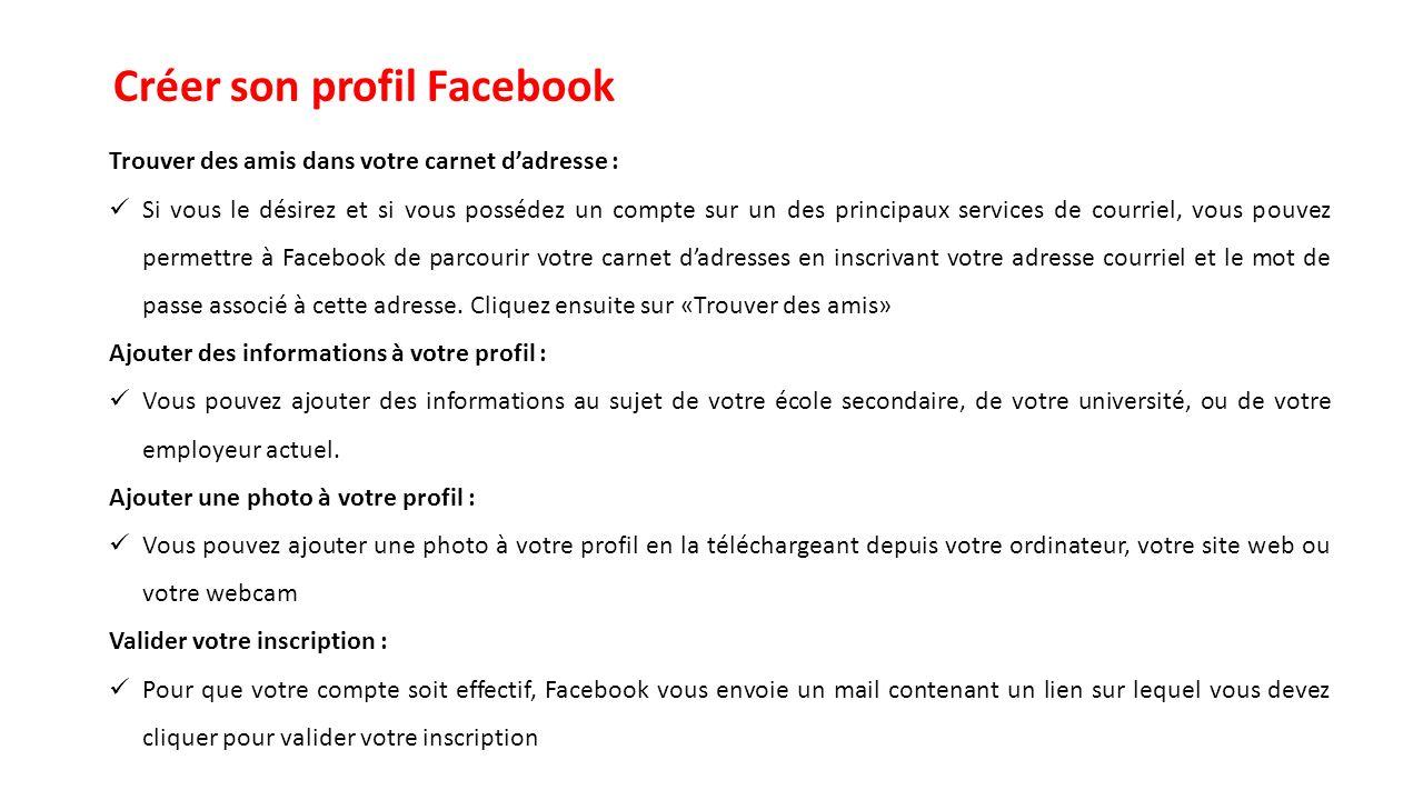 Créer son profil Facebook
