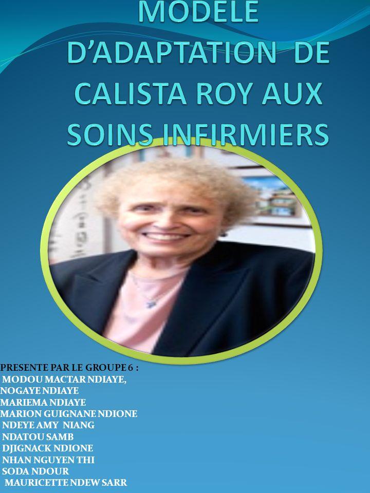 MODELE D'ADAPTATION DE CALISTA ROY AUX SOINS INFIRMIERS