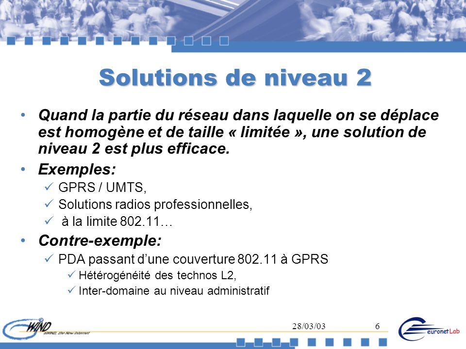 Solutions de niveau 2