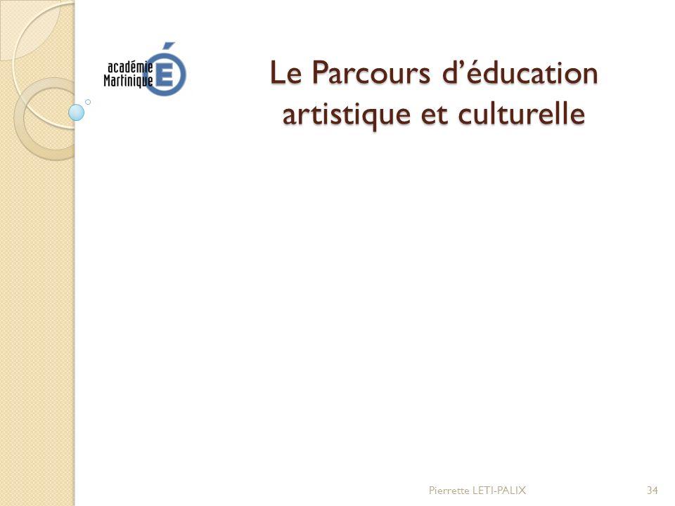 Le Parcours d'éducation artistique et culturelle
