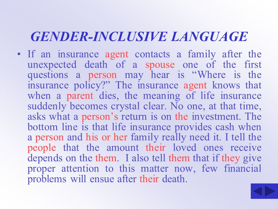 GENDER-INCLUSIVE LANGUAGE