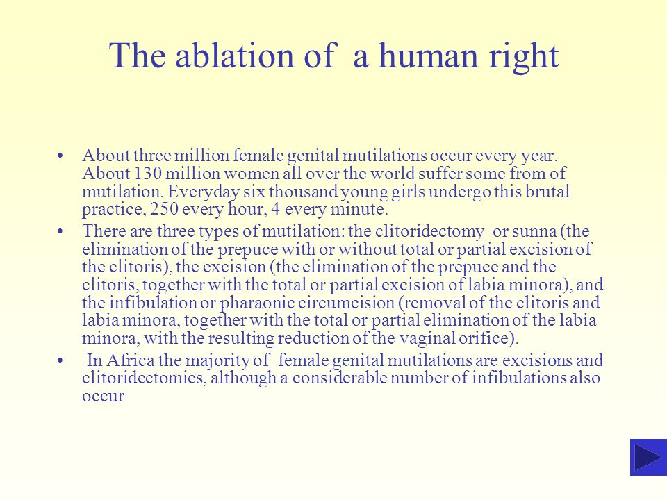 The ablation of a human right