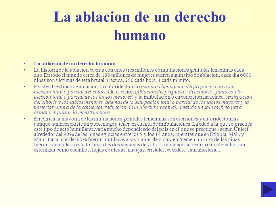 La ablacion de un derecho humano