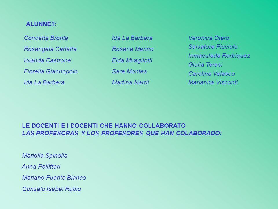 ALUNNE/I: Concetta Bronte. Rosangela Carletta. Iolanda Castrone. Fiorella Giannopolo. Ida La Barbera.