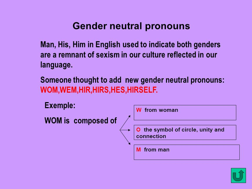 Gender neutral pronouns