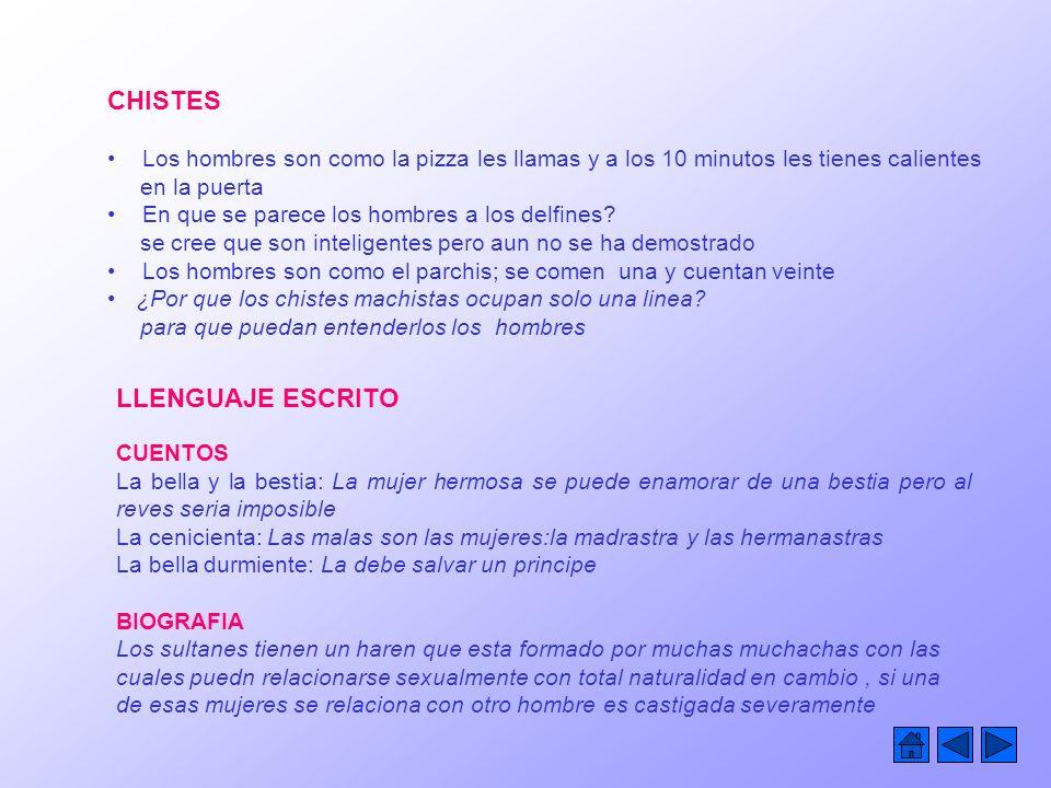 CHISTES LLENGUAJE ESCRITO