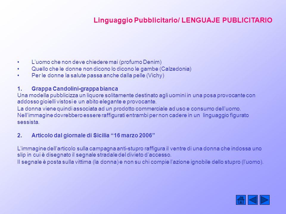 Linguaggio Pubblicitario/ LENGUAJE PUBLICITARIO