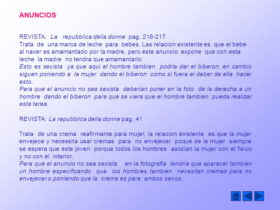 ANUNCIOS REVISTA: La repubblica della donne pag. 216-217