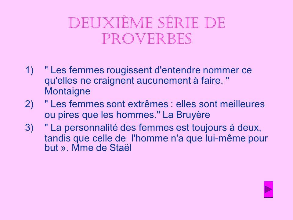 Deuxième série de proverbes