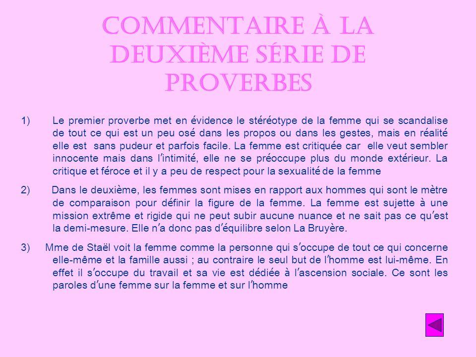 Commentaire à la deuxième série de proverbes