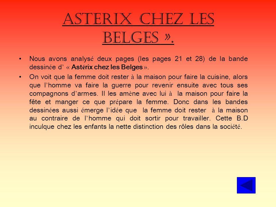 Asterix chez les Belges ».