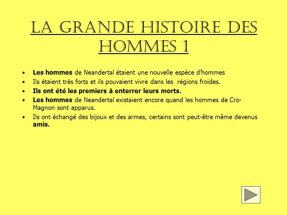 LA GRANDE HISTOIRE DES HOMMES 1