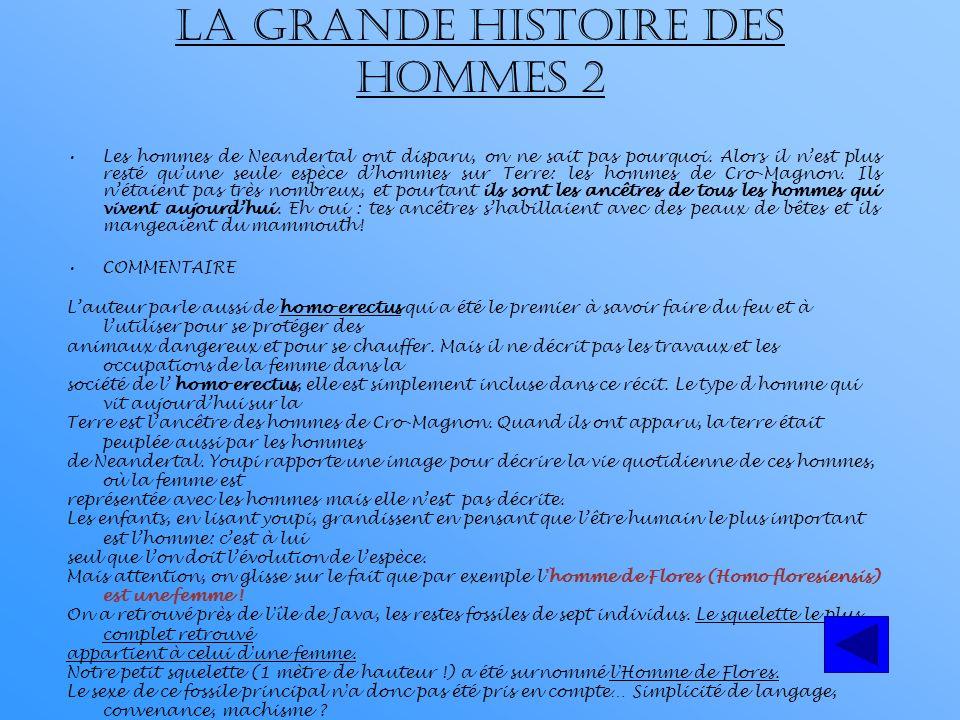 LA GRANDE HISTOIRE DES HOMMES 2