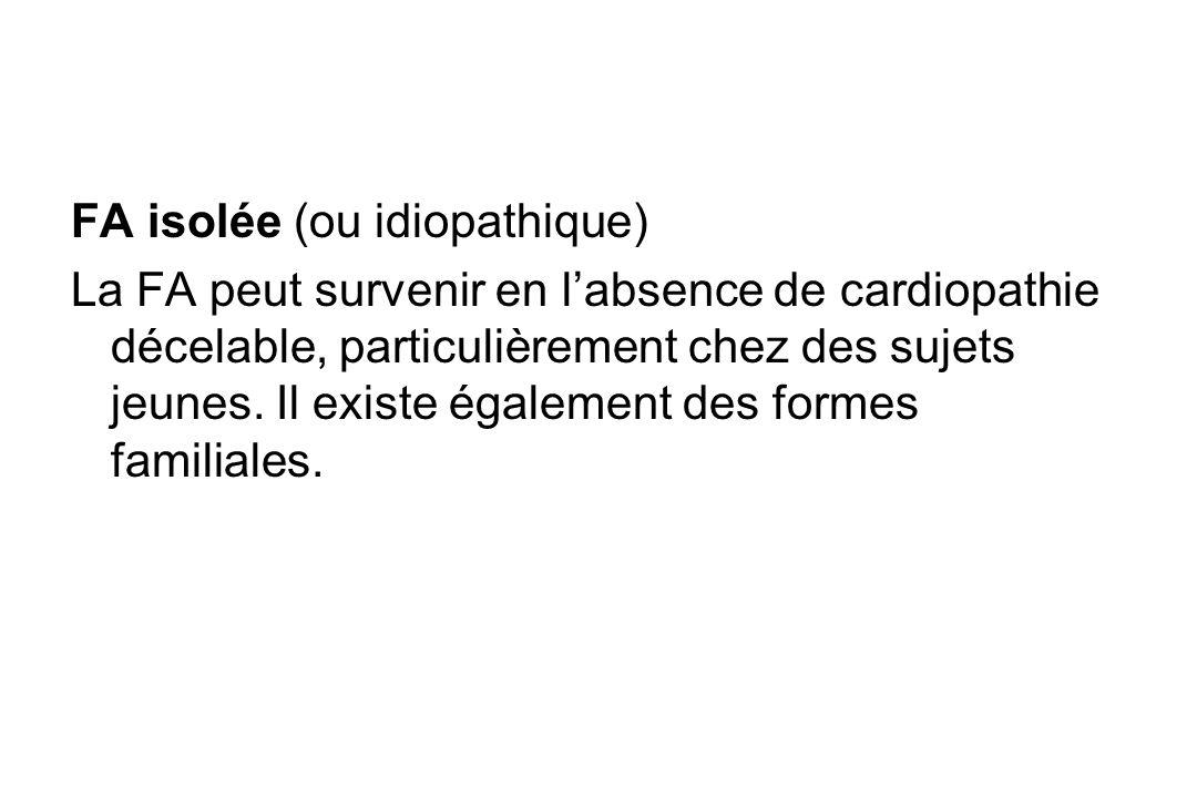 FA isolée (ou idiopathique)