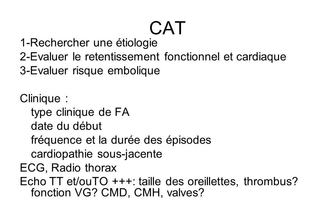 CAT 1-Rechercher une étiologie