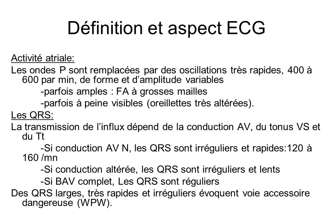 Définition et aspect ECG