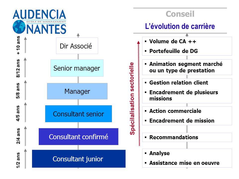 L'évolution de carrière Spécilalisation sectorielle