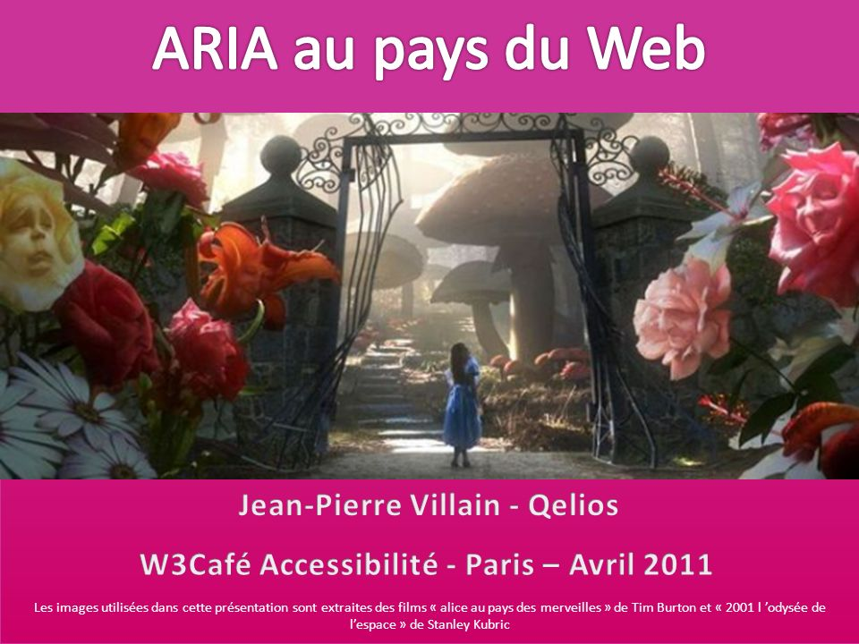 Jean-Pierre Villain - Qelios W3Café Accessibilité - Paris – Avril 2011