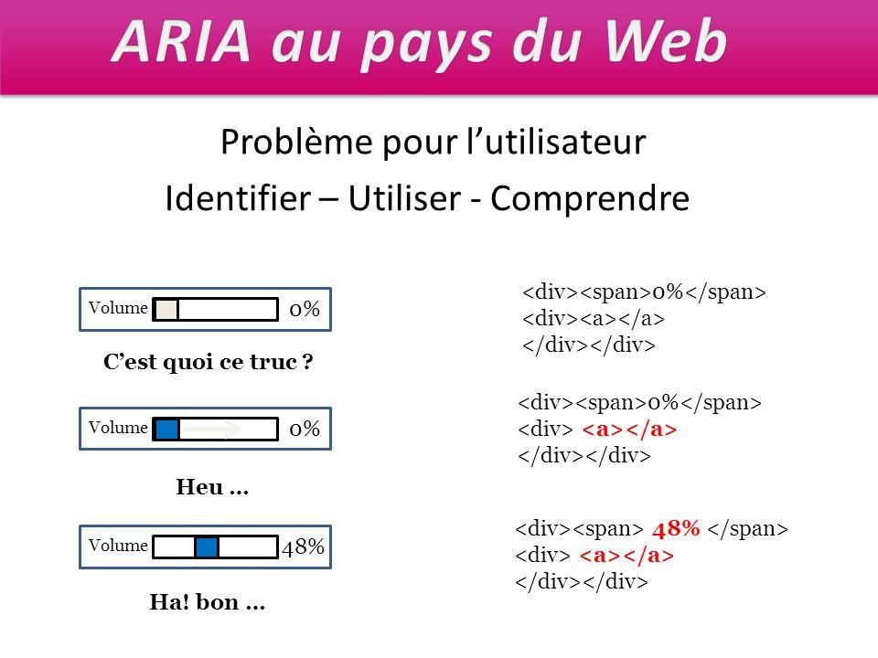 ARIA au pays du Web Problème pour l'utilisateur