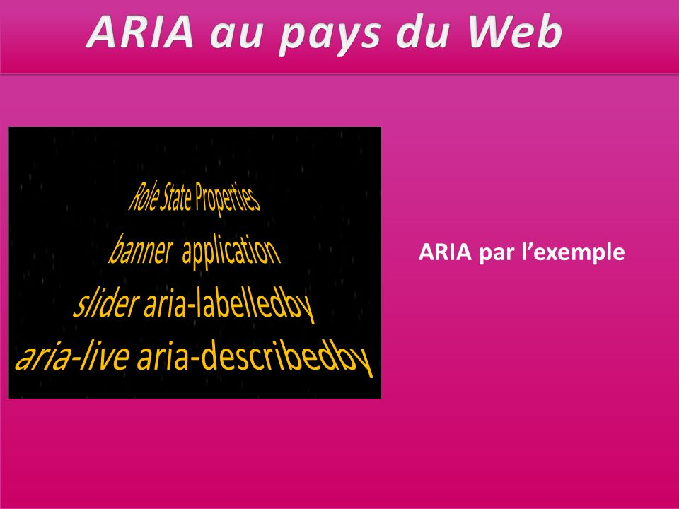 ARIA au pays du Web Role State Properties banner application