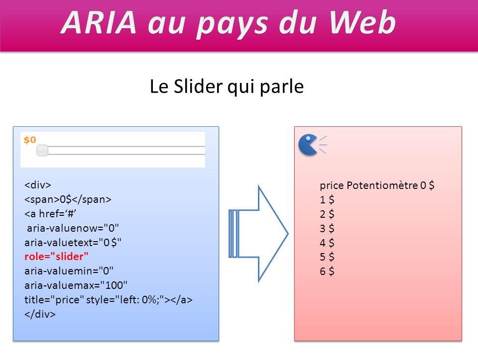 ARIA au pays du Web Le Slider qui parle <div>