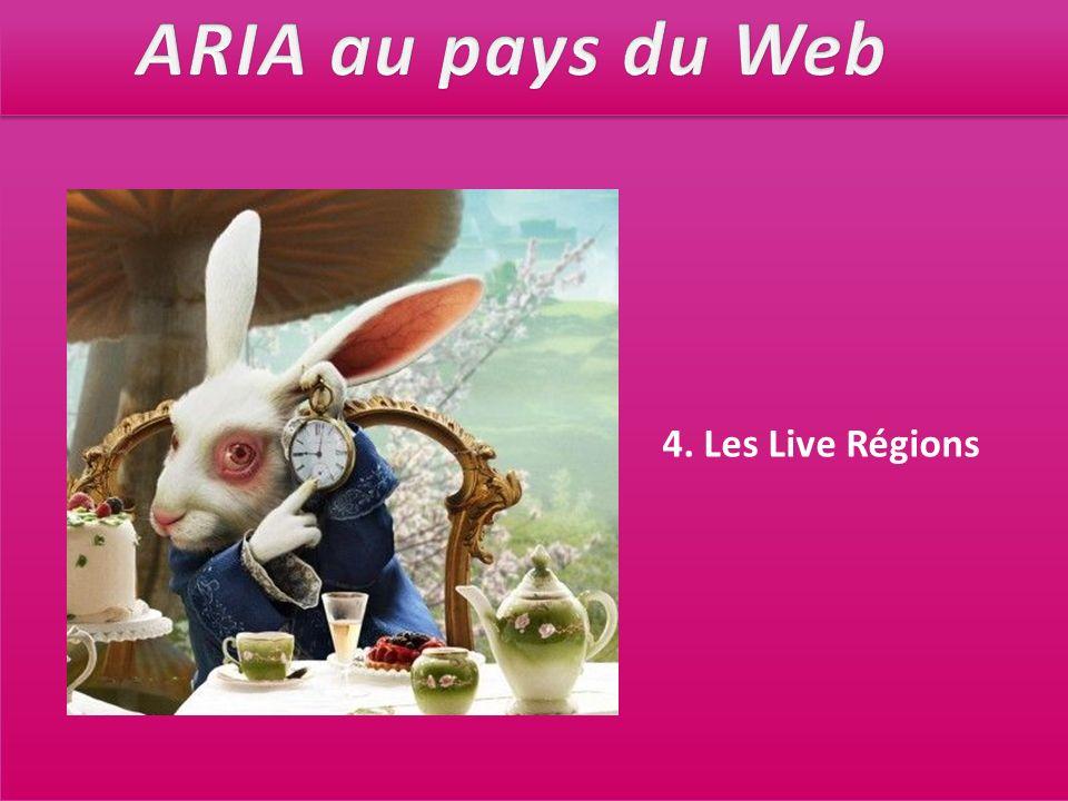 ARIA au pays du Web 4. Les Live Régions