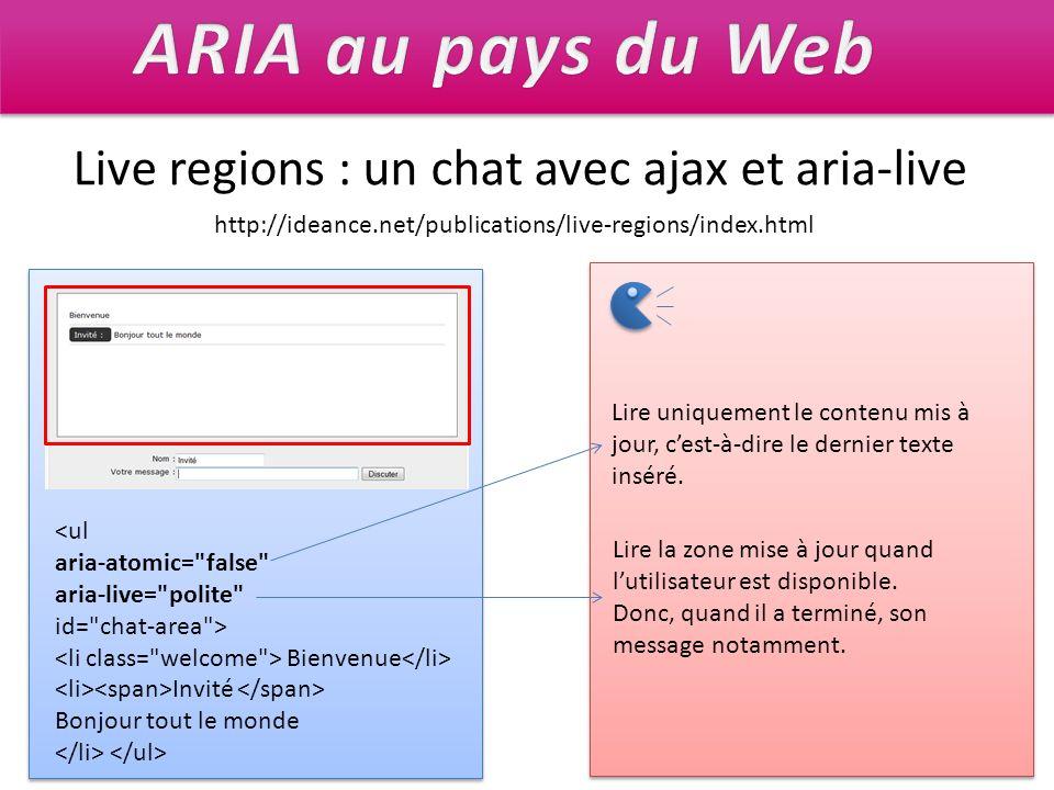 ARIA au pays du Web Live regions : un chat avec ajax et aria-live