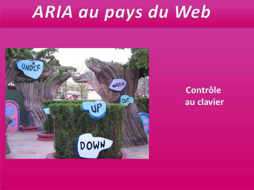 ARIA au pays du Web Contrôle au clavier