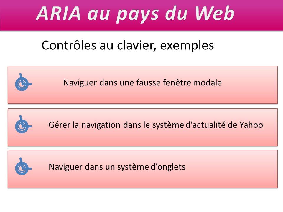 ARIA au pays du Web Contrôles au clavier, exemples