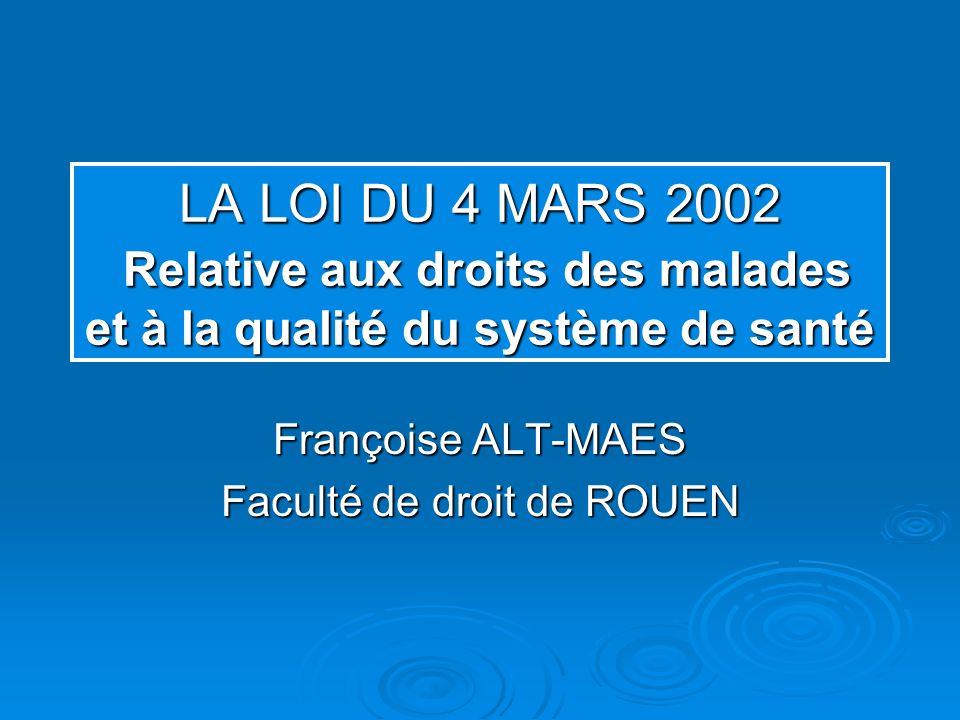 Françoise ALT-MAES Faculté de droit de ROUEN