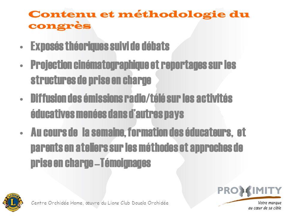 Contenu et méthodologie du congrès