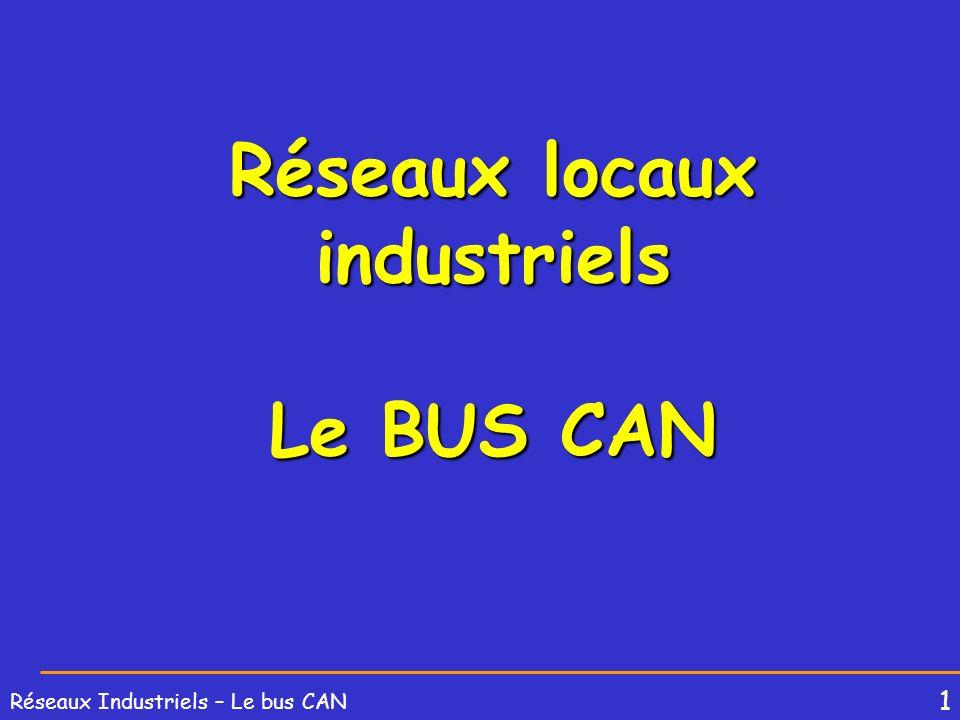 Réseaux locaux industriels Le BUS CAN