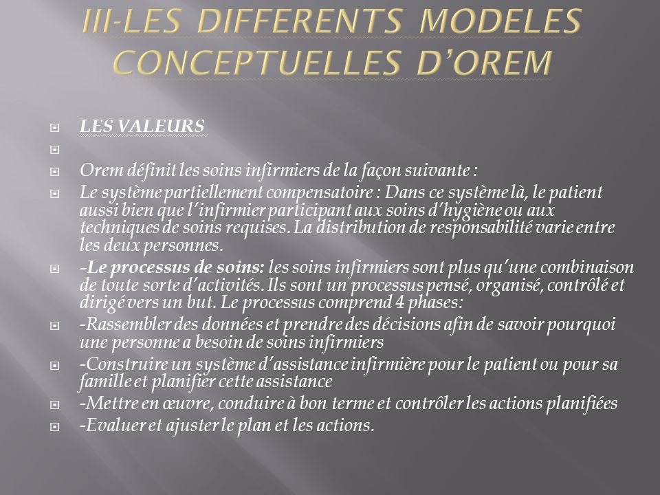 III-LES DIFFERENTS MODELES CONCEPTUELLES D'OREM