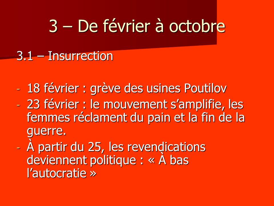 3 – De février à octobre 3.1 – Insurrection