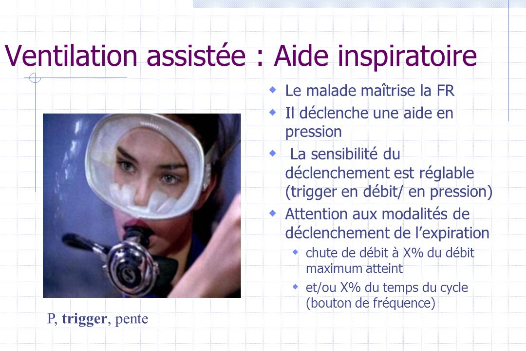 Ventilation assistée : Aide inspiratoire