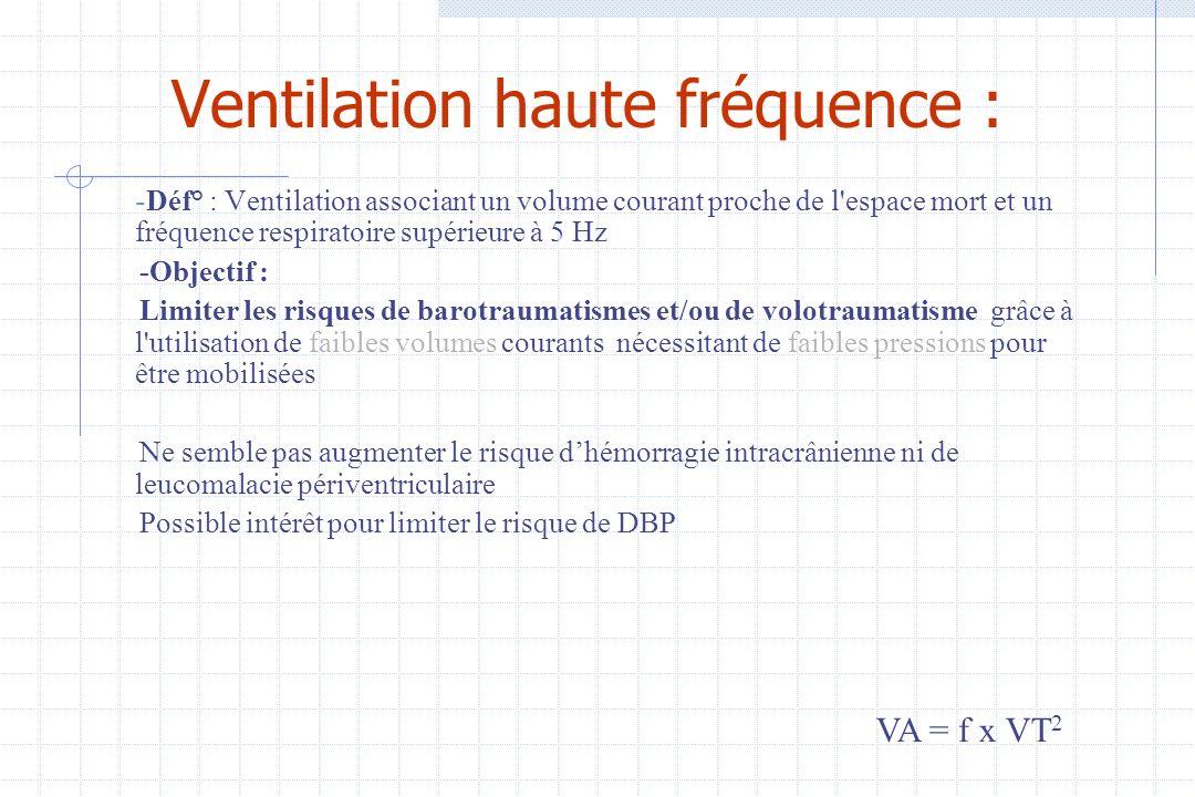Ventilation haute fréquence :
