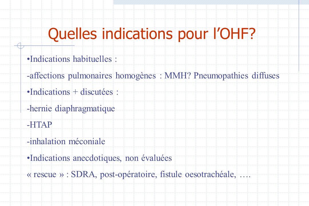 Quelles indications pour l'OHF