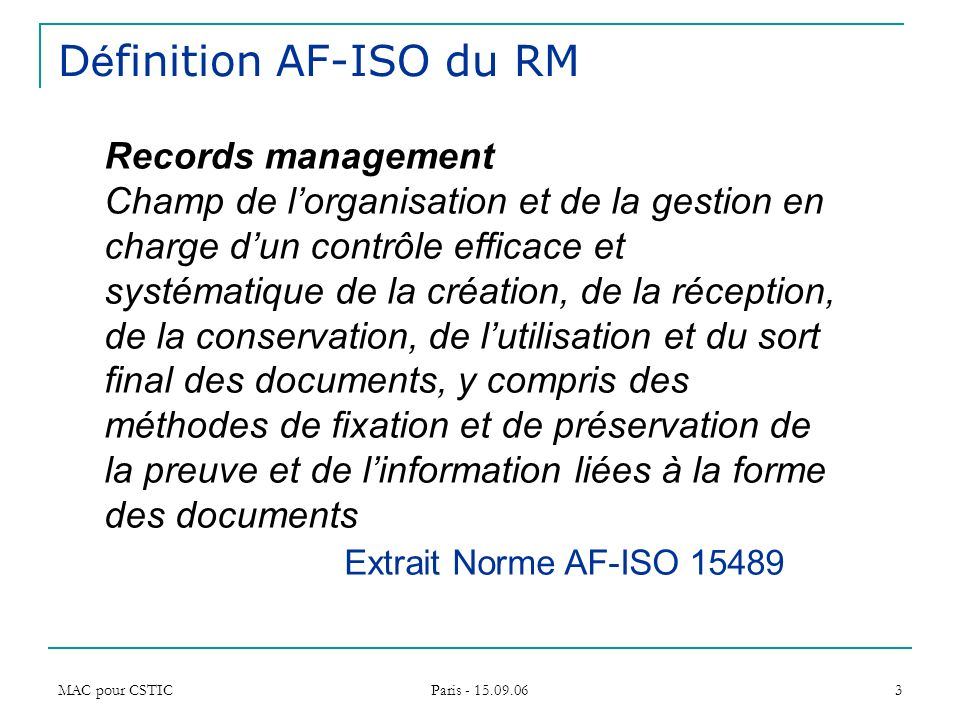 records management comment traduire ppt telecharger With definition du documents