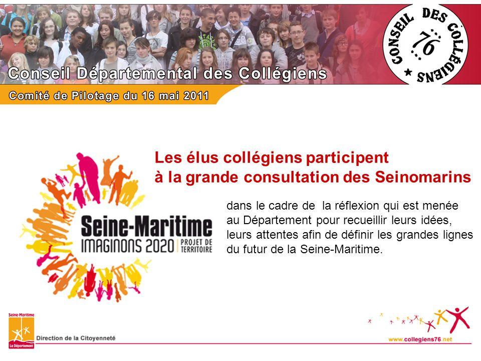 Les élus collégiens participent à la grande consultation des Seinomarins