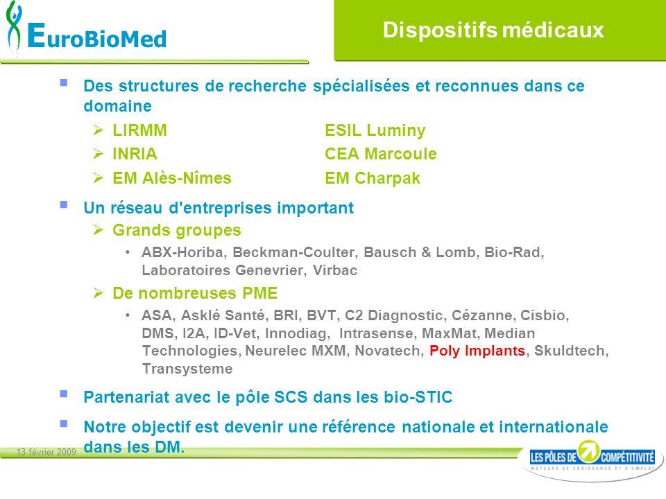 Dispositifs médicaux Des structures de recherche spécialisées et reconnues dans ce domaine. LIRMM ESIL Luminy.