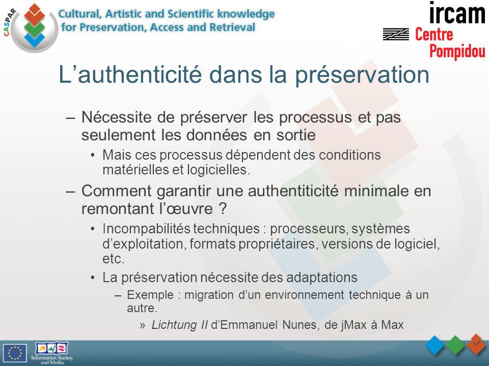 L'authenticité dans la préservation