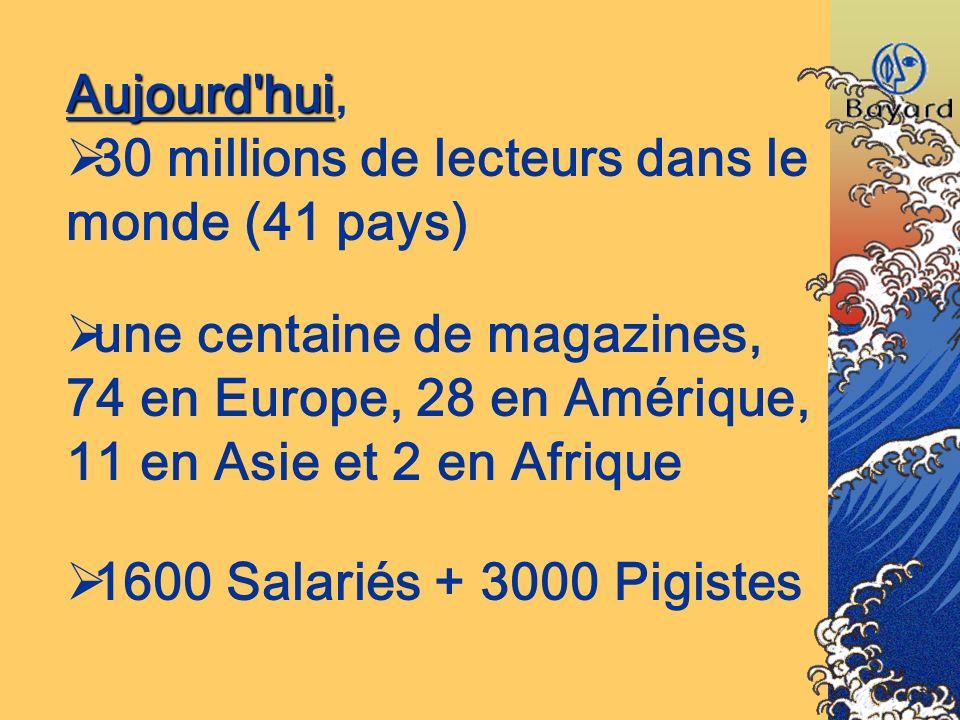 30 millions de lecteurs dans le monde (41 pays)