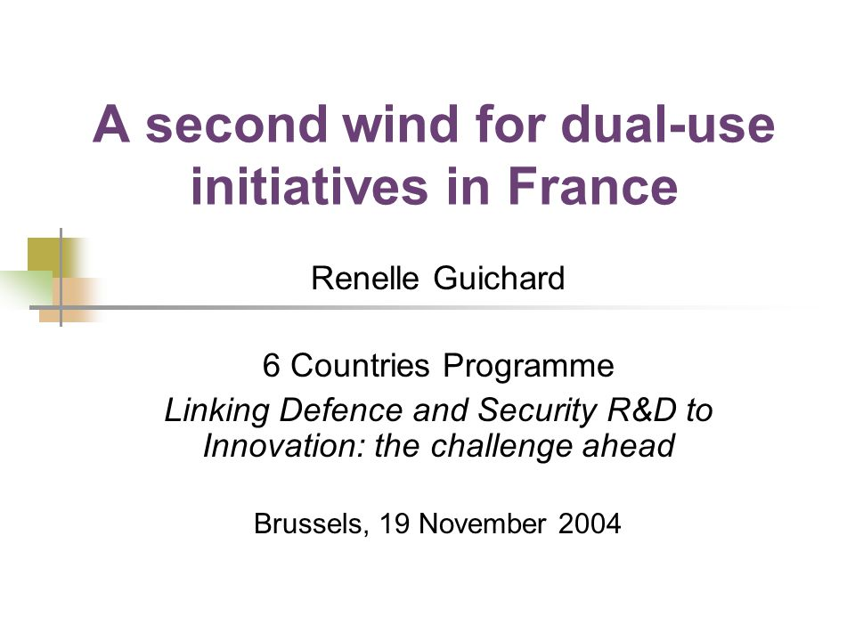 A second wind for dual-use initiatives in France