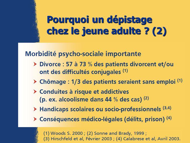 Pourquoi un dépistage chez le jeune adulte (2)