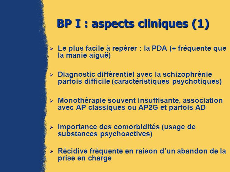 BP I : aspects cliniques (1)